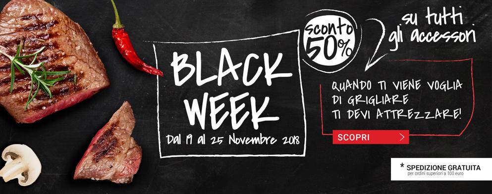 BLACK WEEK Dolcevita BBQ - Sconto del 50% su tutti gli accessori dal 19 al 25 Novembre 2018