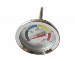 Termometro per cappa forno in acciaio per Turbo Basic