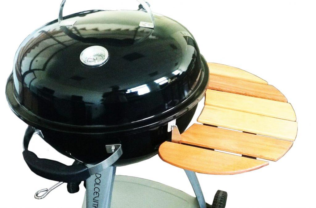Mensola/ripiano in legno universale per barbecue tondo